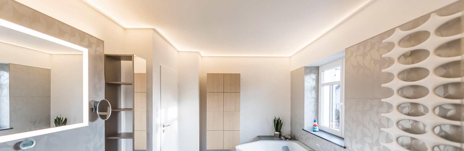 Badbeleuchtung. Wir planen das perfekte Licht in Ihrem Bad